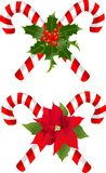 Christmas candy cane decorated designs. Two Christmas candy cane decorated designs Stock Photo