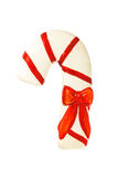 Christmas candy cane decoration isolated on white background Stock Photos