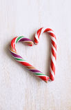 Christmas candy cane heart Royalty Free Stock Photo