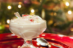 Christmas Candy Cane Ice Cream Royalty Free Stock Images
