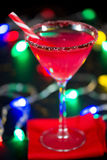Christmas Candy Cane Infused Cocktail Stock Image