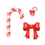 Christmas Candy Cane isolated on a white Royalty Free Stock Images