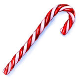 Christmas Candy Cane Isolated on White Background. Royalty Free Stock Photo
