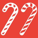 Christmas candy cane line and glyph icon Stock Photography