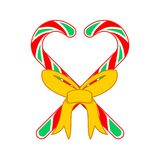 Christmas Candy Cane Love Gift Vector Illustration. Christmas Candy Cane Love Gift Vector Graphic Illustration Sign Symbol Design Stock Photo