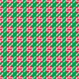 Christmas Candy Cane Pattern abstract background Stock Image