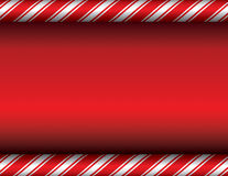 Christmas Candy Cane Red Background Royalty Free Stock Photos
