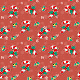 Christmas candy cane seamless pattern Royalty Free Stock Photos