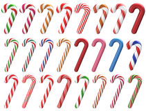 Christmas Candy Cane Set 3D Stock Images