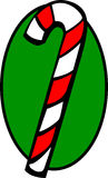 Christmas candy cane vector illustration. Vector illustration of a christmas candy cane Stock Photo