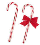 Christmas candy canes. Isolated on white background stock image
