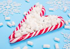Christmas candy canes royalty free stock images