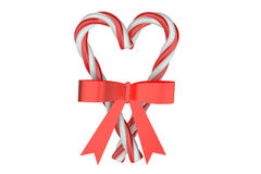 Christmas Candy Canes with bow Royalty Free Stock Photos