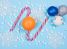 Christmas candy canes Stock Photos