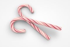 Christmas candy canes. (3d illustration Royalty Free Stock Photography