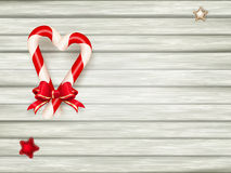 Christmas candy canes. EPS 10 Royalty Free Stock Image