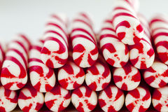 Christmas Candy Canes and Peppermint Sticks Royalty Free Stock Images