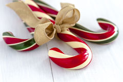 Christmas Candy Canes and Peppermint Sticks Stock Photos