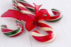 Christmas Candy Canes and Peppermint Sticks Stock Photography