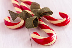 Christmas Candy Canes and Peppermint Sticks Stock Photo