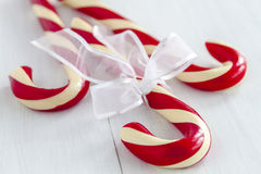 Christmas Candy Canes and Peppermint Sticks Royalty Free Stock Photos