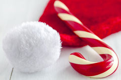 Christmas Candy Canes and Peppermint Sticks Royalty Free Stock Photography