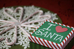 Christmas. Candy canes and Christmas trees, spreading Holiday cheer Royalty Free Stock Images
