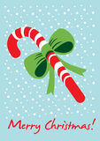 Christmas candy card Stock Image
