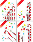 Christmas candy card Royalty Free Stock Photo