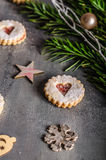 Christmas candy, cookies Stock Photos