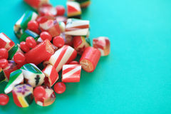 Christmas candy with copy space Stock Photos