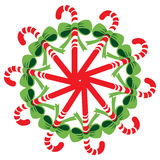 Christmas candy decoration Royalty Free Stock Photos