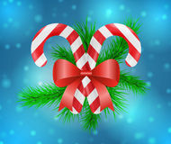 Christmas candy decoration. Vector illustration Stock Photo