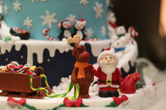 Christmas candy decorations, fondant art Stock Photos