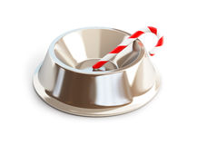 Christmas candy dog dish Stock Photos