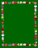 Christmas Candy Frame royalty free stock photos