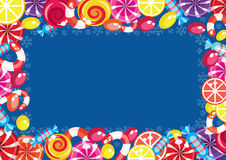 Christmas candy frame royalty free illustration