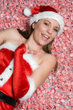 Christmas Candy Girl Royalty Free Stock Images