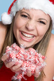 Christmas Candy Girl Royalty Free Stock Image
