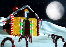 Christmas candy house Stock Image