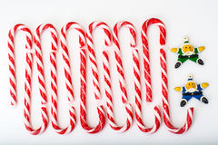 Christmas candy Magic Staff Royalty Free Stock Image