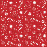 Christmas Candy Pattern. A seamless pattern filled with delicious candies associated with christmas. Arranged in four tiles to accommodate different sizes Royalty Free Stock Photography