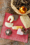Christmas candy with pinecone in punnet Stock Image