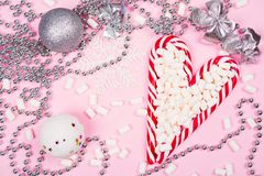 Christmas candy canes royalty free stock image