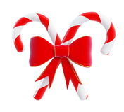 Christmas Candy red bow. Isolated on a white background Stock Image