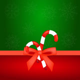Christmas candy with red bow Stock Photo
