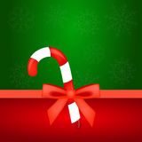 Christmas candy with red bow Stock Image