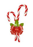 Christmas candy with red bow Royalty Free Stock Photo