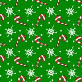 Christmas candy seamless pattern on a backfround. Royalty Free Stock Photography