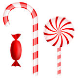 Christmas candy set Royalty Free Stock Photos